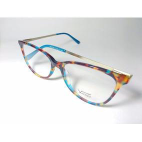 Óculos De Grau Feminino Vereda Blue Rainbow + Brinde