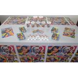 Decoración Fiesta Infantil Super Hero Girls - 9 Artíc.