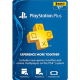 Tarjeta Psn Card Playstation Network Plus 3 Meses Ps4 Ps3