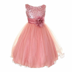 Vestido De Fiesta Elegantes Pajes Para Niñas Lentejuela