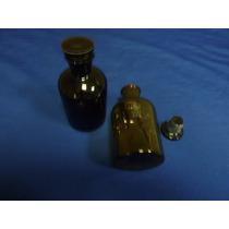 Botella Para Reactivo De Vidrio De 250ml. Color Ambar