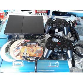 Playstation 2 Slim Desbloqueado Completo Para Jogar !!!