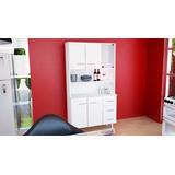 Mueble De Cocina Modular Triplo Kit Blanco 90x38x171 (10104)