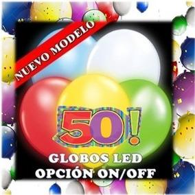 Globos Con Luz Led 1 Pieza Colores Azul Blanco Rojo Verde