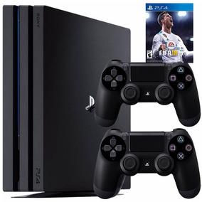 Playstation 4 Ps4 Pro Consola 1tb + 2 Joystick + Juego