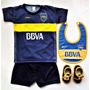 Kit Boca Bebe Camiseta Short Escarpin Babero Y River