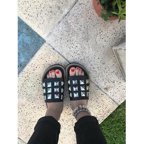 Sandalias Zapatos Bajitos Negros Con Tachas Joku Ariki