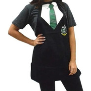 Delantal Harry Potter-producto Oficial- Hufflepuff/slytherin