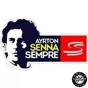 2 Adesivos Ayrton Senna Sempre Sticker S Do Senna Formula 1