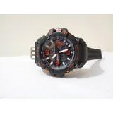 Reloj Digital Deportivo Militar Negro Con Naranja