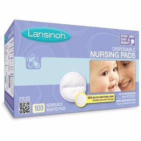 100 Protectores Almohadillas De Lactancia Materna Lanisnoh