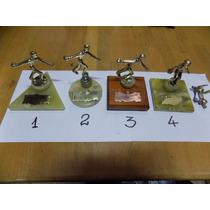 Figura Bronce Antigua Trofeo Bouling Año 75/76 Elegir (2321)