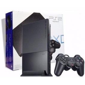 Playstation 2 Desbloqueado Novo Na Caixa+10 Jogos