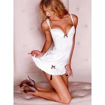 Victorias Secret Bra Body Teddy Con Ligas Novia 34b