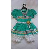 Vestido Festa Junina Caipira Infantil Babybebê Fantasia 3276