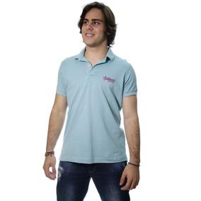 Camiseta Acostamento Gola Polo Azul Blue