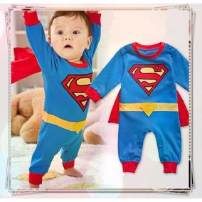 Macacão Super Homem Bebê Fantasia Pronta Entrega
