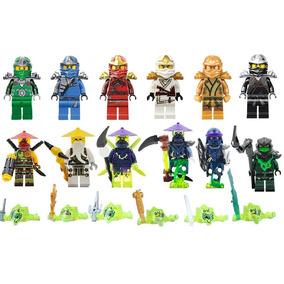 Kit Ninjago 12 Bonecos + Fantasmas - Sensei Wu, Ninja Golden