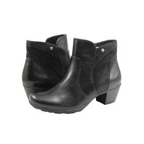 Botas Mujer Stitching Taco 5cm Cierre Lateral