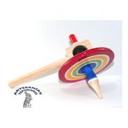 12 Piezas/artesanía Mexicana Trompo De Agujeta Chico Madera