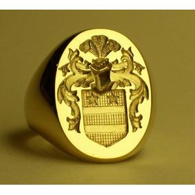 Anel Brasão De Familia Ouro 18k De Luxo 15 Gr Oco Esculpido