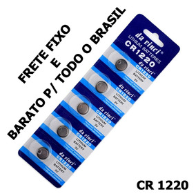 Cartela 5 Und Bateria Cr1220 3v Lithium Cr-1220 Frete Fixo