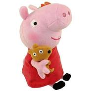 Peppa Pig Pelúcia 30cm Peppa Com Ursinho Original 4536