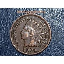 Moneda Centavo Cabeza De Indio 1901 Indian Head