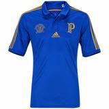 Camisa Palmeiras 100 Anos Polo Azul Vestiva Palestra Italia