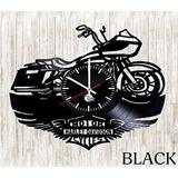 Reloj De Pared Vinilo Decorativo Moto Harley Davidson Lp