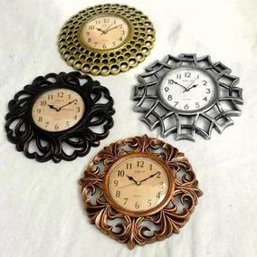 Kit 10 Relógios Parede Prata Dourado Preto Vintage Atacado