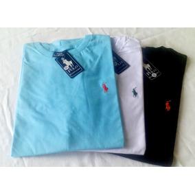 Kit 3 Camisetas Bordada Multimarcas - Masculina