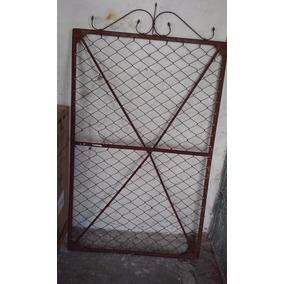 Puerta Antigua De Hierro Año 1950 Para Decoracion Buena