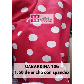 Tela Gabardina Por Metro Rojo Lunares Minnie Spandex N 106