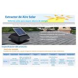 Extractor Solar Para Entretechos O Galpones
