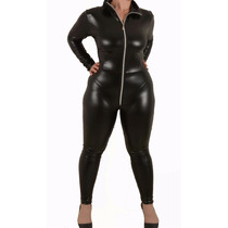 Entero Catsuit Simil Latex Negro