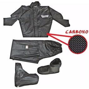 Calça Blusa Polaina De Chuva Impermeável Moto Fibra Carbono