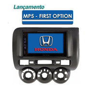 Central Multimídia Mp5 Honda Fit 2004 A 2007  Espelham + Cam