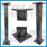 Pedestal Pie Torre Madera 100 Cms Soporte Bafle Home Muteki