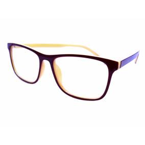Armação Óculos Marrom Com Creme Lentes Sem Grau Ótica M51143. R  20 eda620c3da