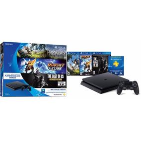 Playstation 4 Slim Jet Black 500gb 15.000, Con 6 Juegos