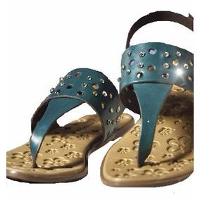 Sandalias Para Niña Marca Sifrinitas 29 30 32 Azul Y Marrón