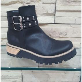 Botas Borcegos Zapatos Mujer Eco Cuero Zapatos Botinetas