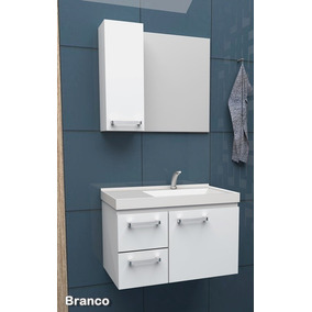 Gabinete Banheiro Roma C/ Cuba Aço Cozimax