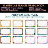 Plantillas Marcos Frames Psd Clausura Kinder Graduacion