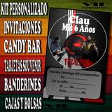 Kit Imprimible Mortal Kombat Personalizado Invitacion Candy