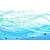 Painel Lona Festa 3,00x1,70mt Notas Musicais Azuis