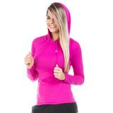 Camisa Uv Feminina Com Proteção Solar Manga Longa Com Capuz