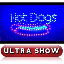 Placa Led Quadro Letreiro Luminoso Decorativo Hot Dog Rgb