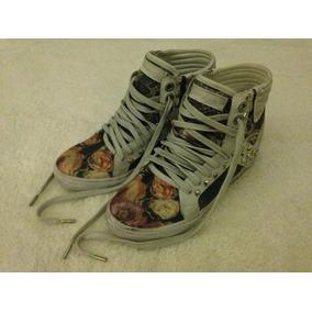 Tênis John John Sneaker Tam.36 Feminino Novo Em Couro E Lona